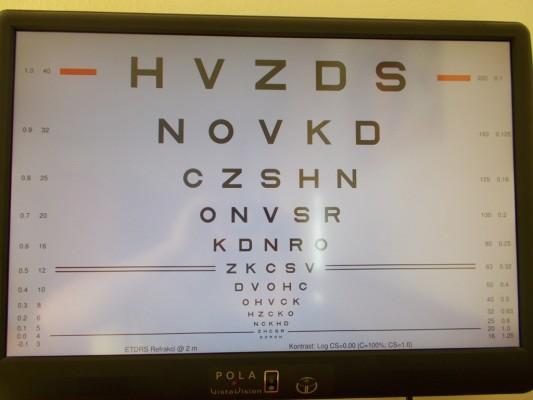 824bb0600 Vyšetrenie zrakovej ostrosti | Očná optika Jolana Britaňáková